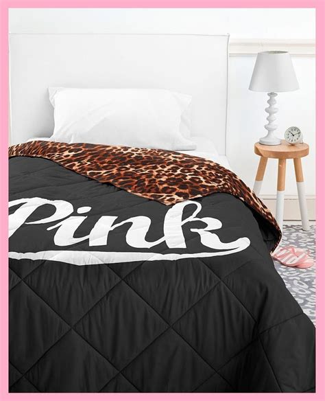 victoria secrets bedding victoria secret pink bed in a bag black leopard comforter sheet pillow case twin ebay