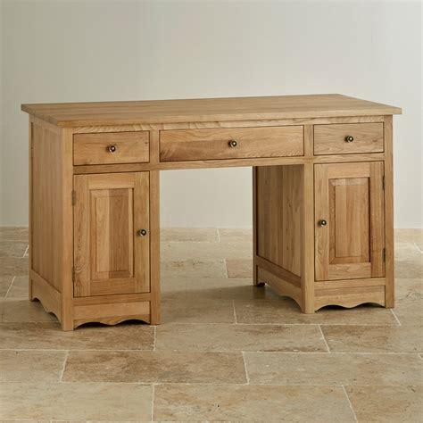 cairo computer desk  natural solid oak oak furniture land
