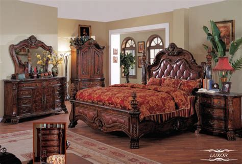 traditional bedroom decor luxor bedroom set by meridian furniture