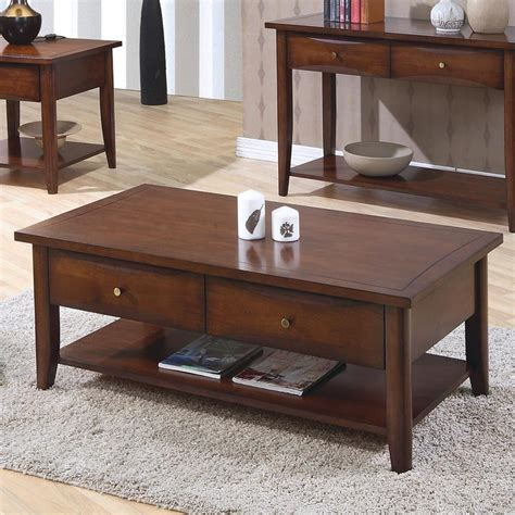 brown wood coffee table coaster bentley 700958 brown wood coffee table a
