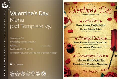 day menu template valentines day menu template v5 by lou606 graphicriver