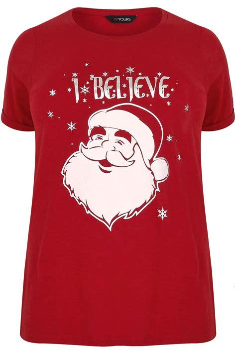 T Shirt S A S Buy Nggifa Name rood t shirt met i believe slogan grote maten 44 64