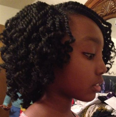 pictures of marley twist curled at the end kinky twist crochet braids hairstyles for the tween