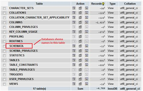 how can i get database table sizes