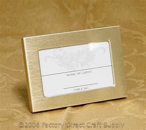 Place Card Holders Template by Gold Frame Placecard Holder Anniversary 25th And 50th