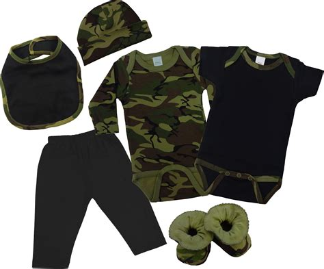 Green camo baby clothes gift set 6 pc baby n toddler