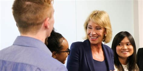 betsy devos in atlanta devos student loan debt is a higher education crisis