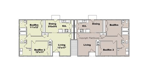 2 Bedroom Apartments In Maryland apartment plan j1964 4 plansource inc
