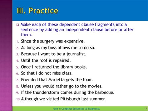 Cupola In A Sentence Unit 1 Complete Sentences Vs Fragments