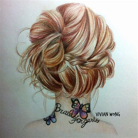 hairstyles color drawing hipster girl drawings tumblr google search hair