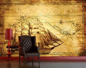 cheap wall murals uk vintage antique explorer map decorating wallpaper mural