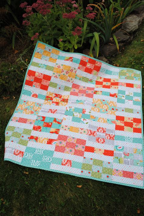 Size Quilt Pattern by Pdf Baby Quilt Pattern Quilt Pattern 2 Sizes Layer Cake