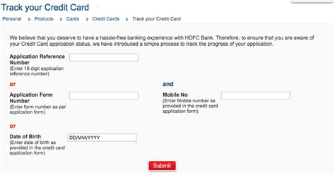 Credit Card Application Form For Hdfc Hdfc Credit Card Status Check Hdfc Credit Card Application Status
