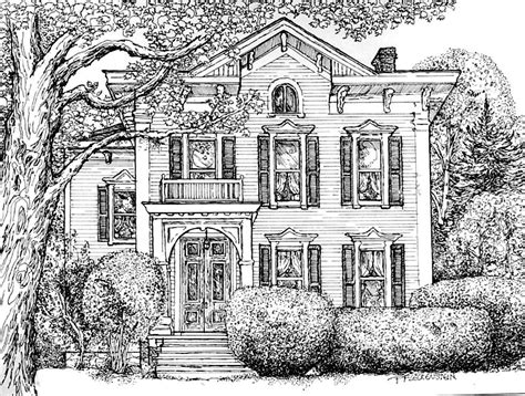 residential ink home design drafting pen drawing on pinterest pens ink and line drawings