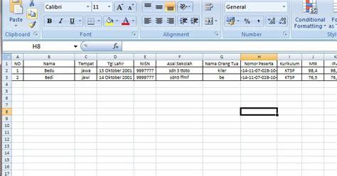 format excel surat keterangan fiskal contoh format surat keterangan lulus sd tahun pelajaran