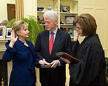 When Did Clinton Take Office by Clinton Taking Oath As Of State