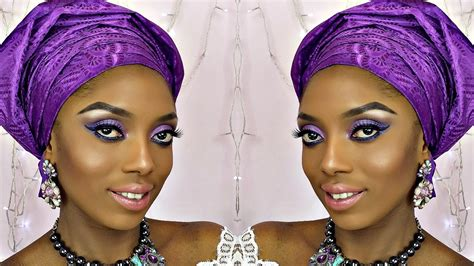 bridal gele on the you tube how to tie gele and bridal makeup tutorial youtube