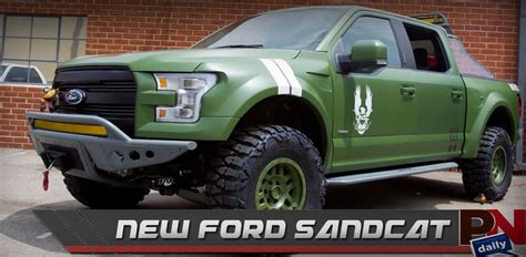 new ford sandcat color changing paint truck front flips powernation daily