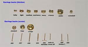 earring back types findings findings earring findings