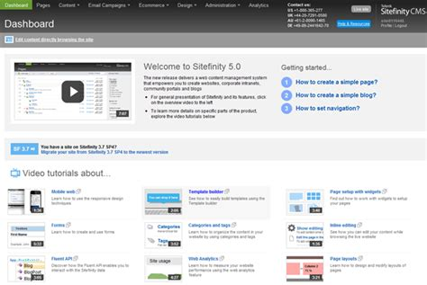 Set Tefity sitefinity review a look at sitefinity 5 cms critic