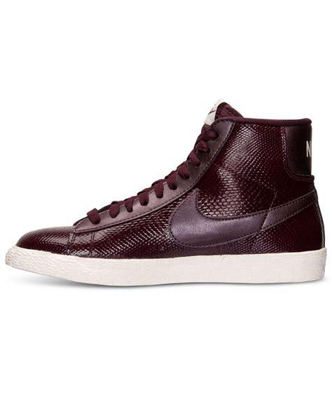 nike blazer mid premium sneakers in purple lyst