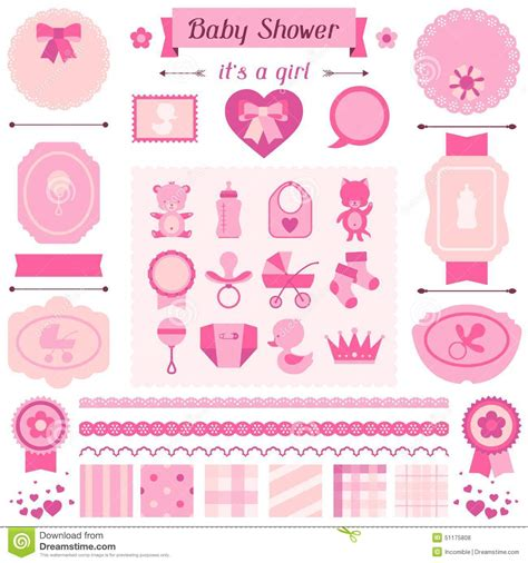 Baby Shower Sts by Baby Shower Set Of Elements For Design Stock Vector