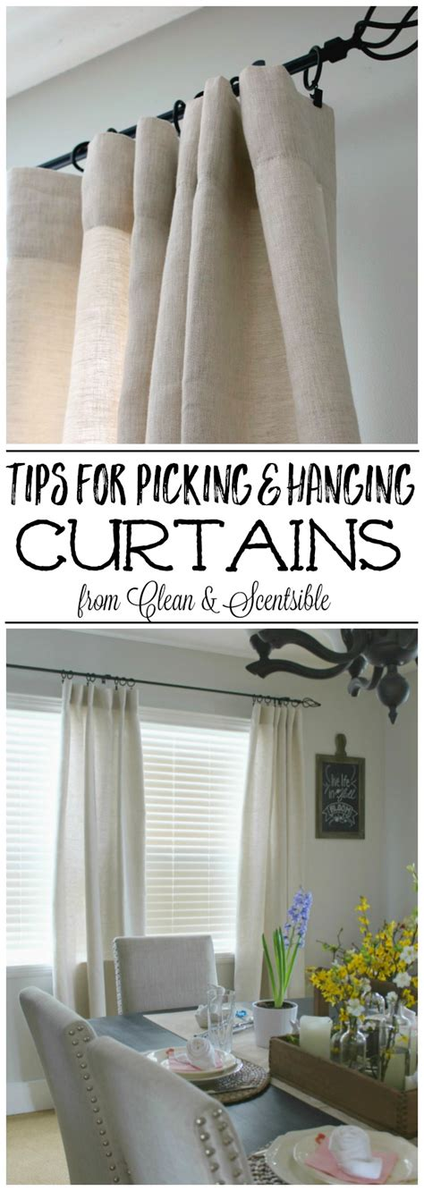 tips for hanging curtains how to hang curtains and drapes clean and scentsible