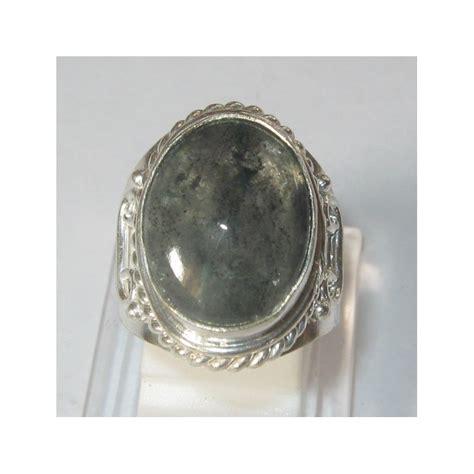 Cincin Batu Permata Quartz cincin pria model antik batu quartz rutilated ring 7us