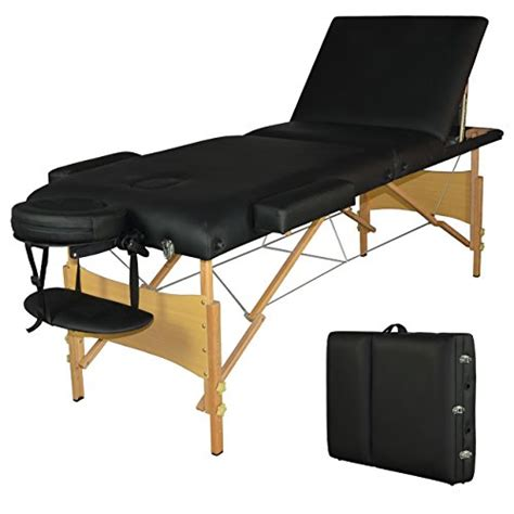 3 section portable massage table black 3 section portable massage table facial spa bed