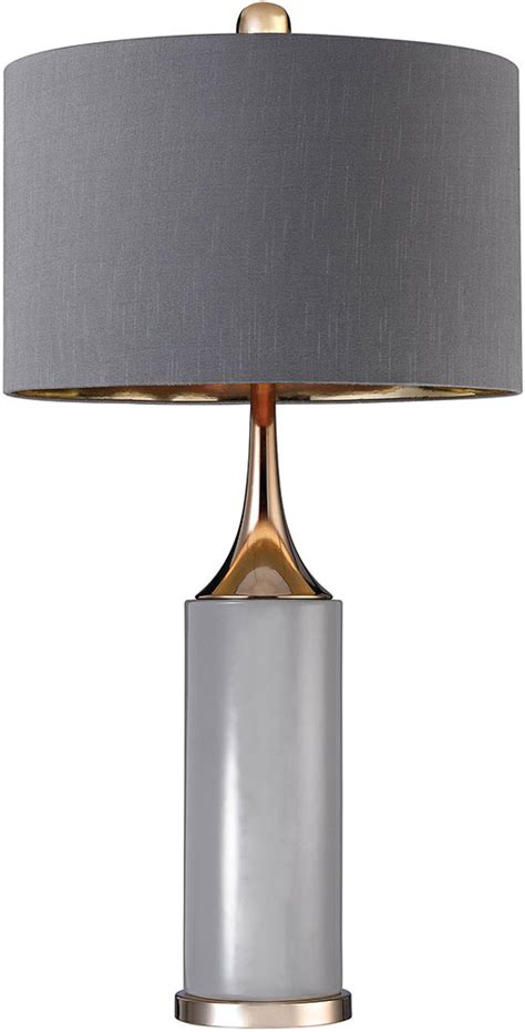 Side Table Lights Dimond D2749 Led Contemporary Grey Gold Led Side Table