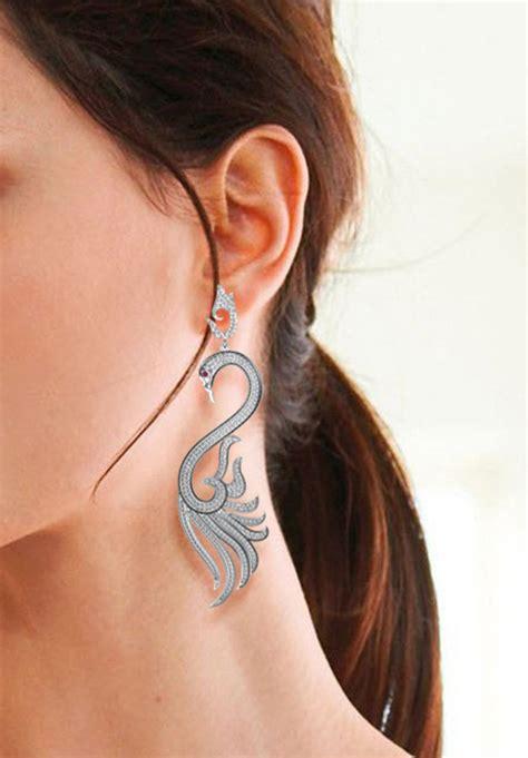japanese women sideburn jewelry jewels pave diamond pave diamond earrings handmade