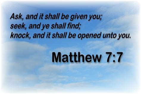 Knock And The Door Shall Be Opened Kjv by The World S Catalog Of Ideas