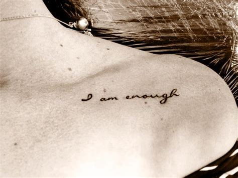 enough tattoo 37 discreet and beautiful feminist inspired tattoos stylist