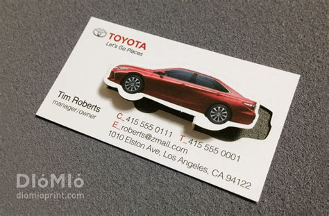 toyota business card template car shaped business cards choice image business card