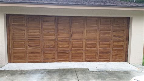 Faux Wood Garage Doors Faux Wood Garage Door Ocala Faux Finish