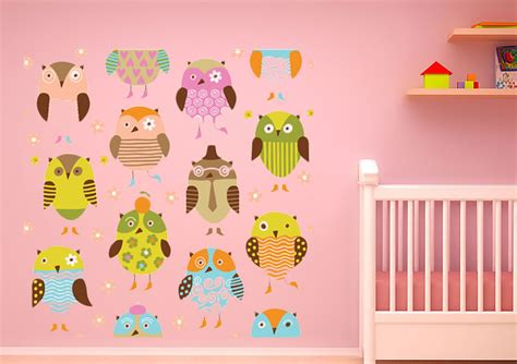 childrens wall stickers uk owls galour childrens printed wall sticker
