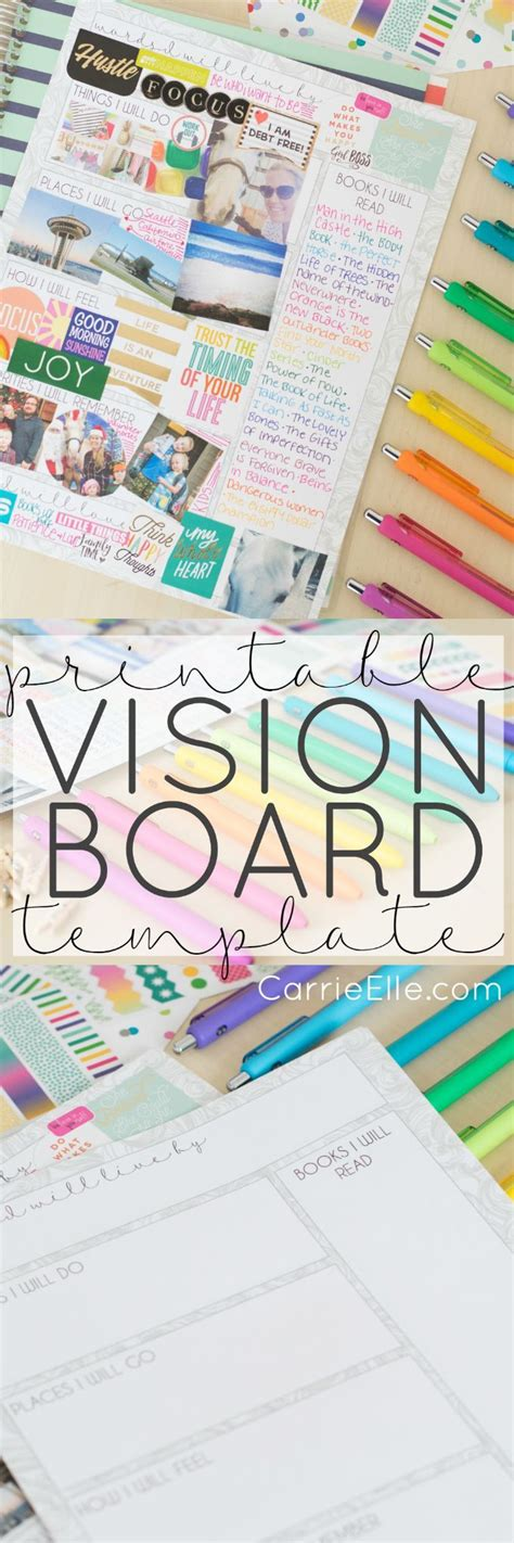 vision board template 25 best ideas about vision board template on