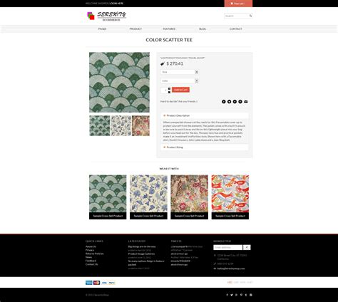 serenity minimal responsive ecommerce template by