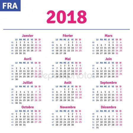 Switzerland Calend 2018 Fran 231 Ais Calendrier 2018 Image Vectorielle 147098453