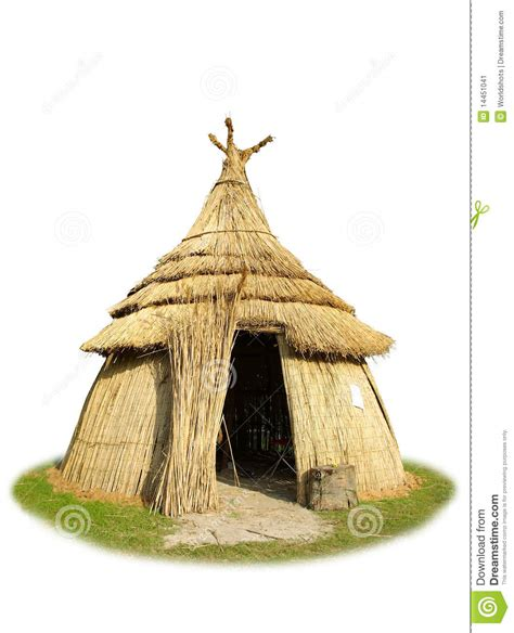 Shed Roof House Plans by Isolated Thatched Hut Stock Image Image Of Isolated