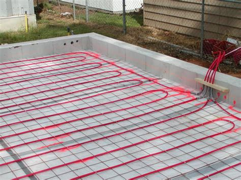 pex on mesh radiant floor slab building my steel garage