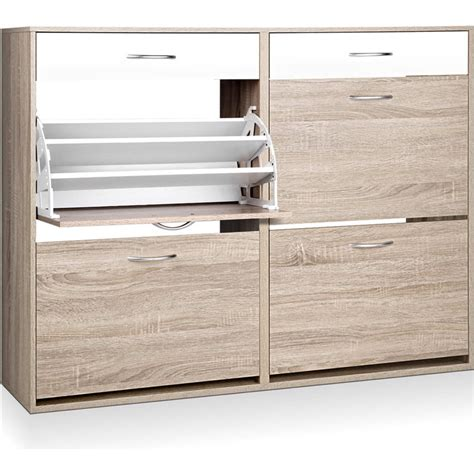 shoe storage sydney 36 pair shoe rack cabinet w 4 cupboards 2 drawers buy