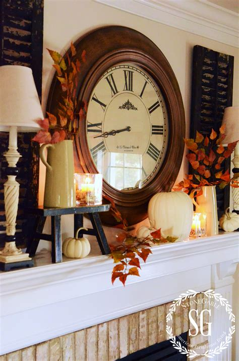 fall theme decor home decor loversiq simple fall matle e2 80 94 crafthubs easy mantel clock