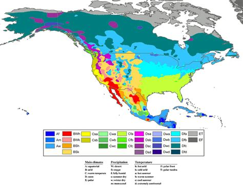 america climate zones map climate zones of america climate and soil composition