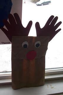 paper bag reindeer pattern play with me paper bag reindeer puppet