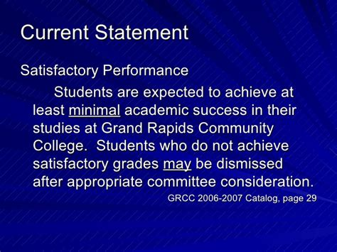 achieving the dream grand rapids community college grcc academic standing
