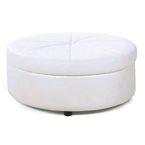 round white leather ottoman event furniture rental lounge rental furniture rent