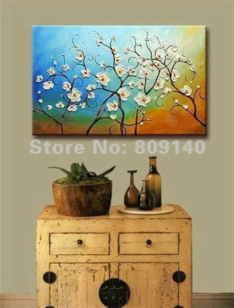 hand painted home decor free shipping painting oil painting abstract flower