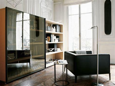 open wooden bookcase mida collection by maxalto a brand
