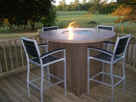 outdoor table with firepit concrete table with pit and wooden like base